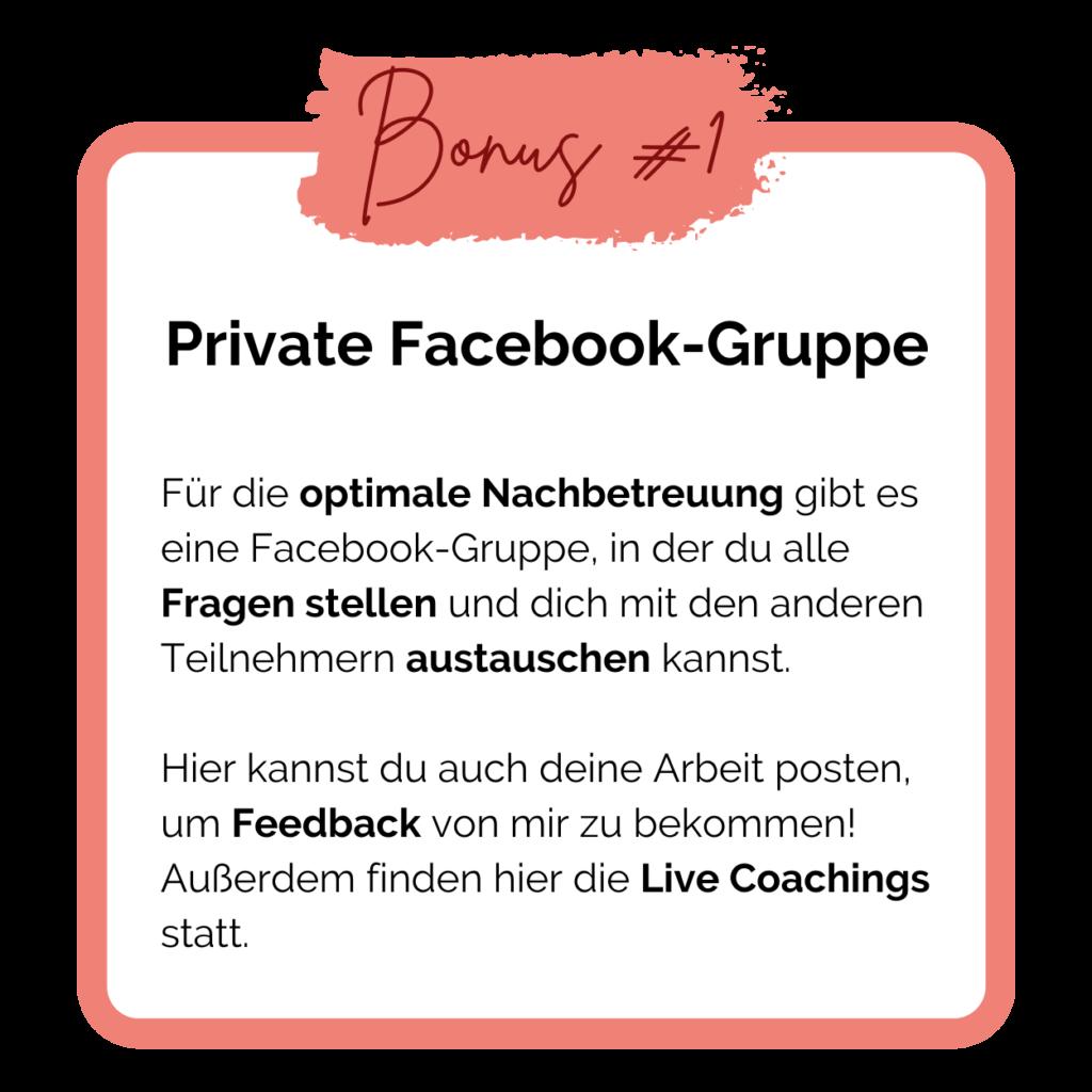 Online Make-up Artist Kurs Bonus 1: Private Facebook-Gruppe