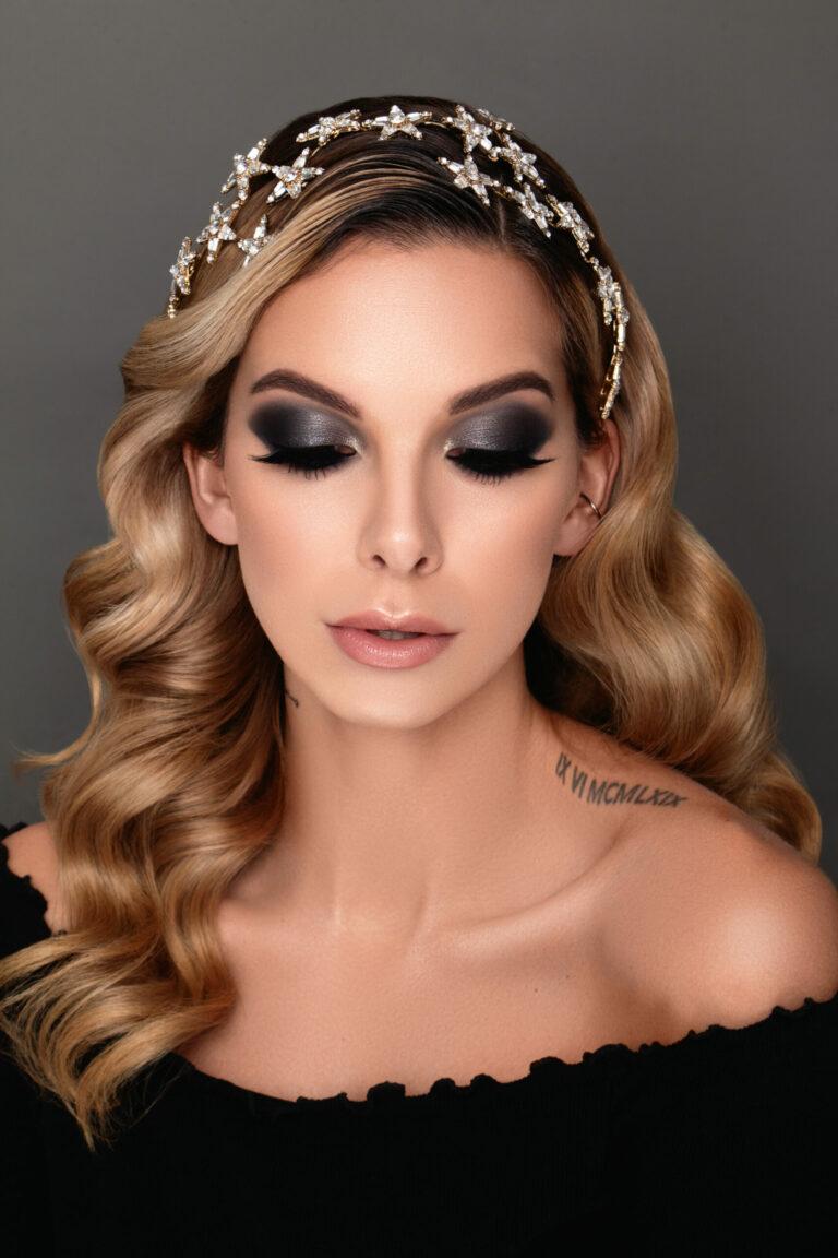 Online Make-up Kurs Look: Francesca Beauty Foto Smokey Eyes