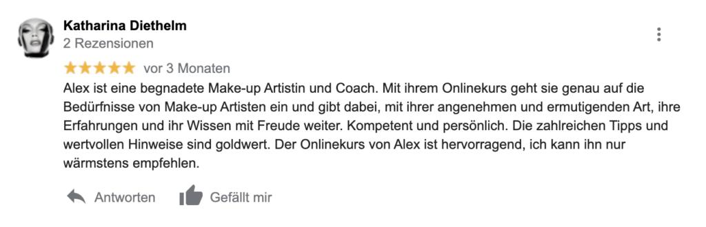 Make-up Artist Onlinekurs Bewertung