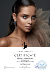 Alexandra Lederer Make-up Artist München: Zertifikat