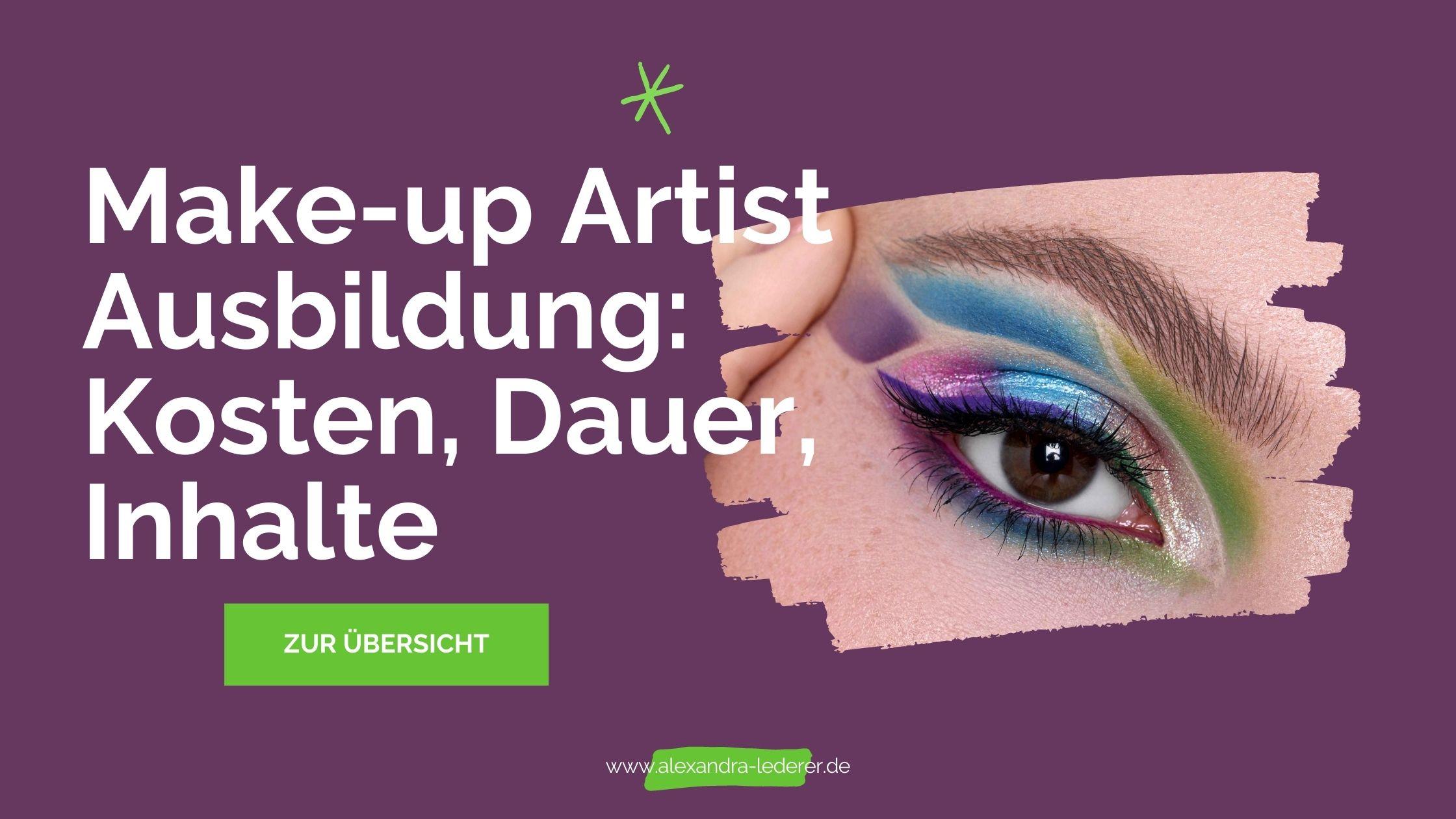 Make-up Artist Ausbildung Kosten